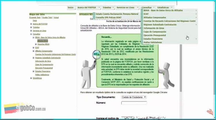 Consultar certificado Fosyga