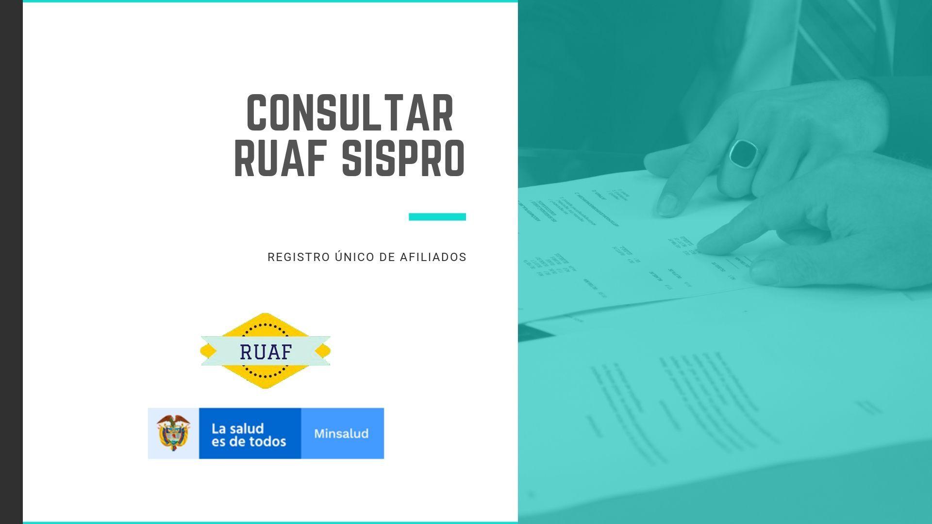 Pasos para consultar el SISPRO RUAF