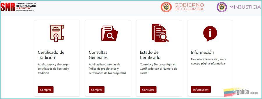 sacar certificado tradicion y libertad con tarjeta de crédito