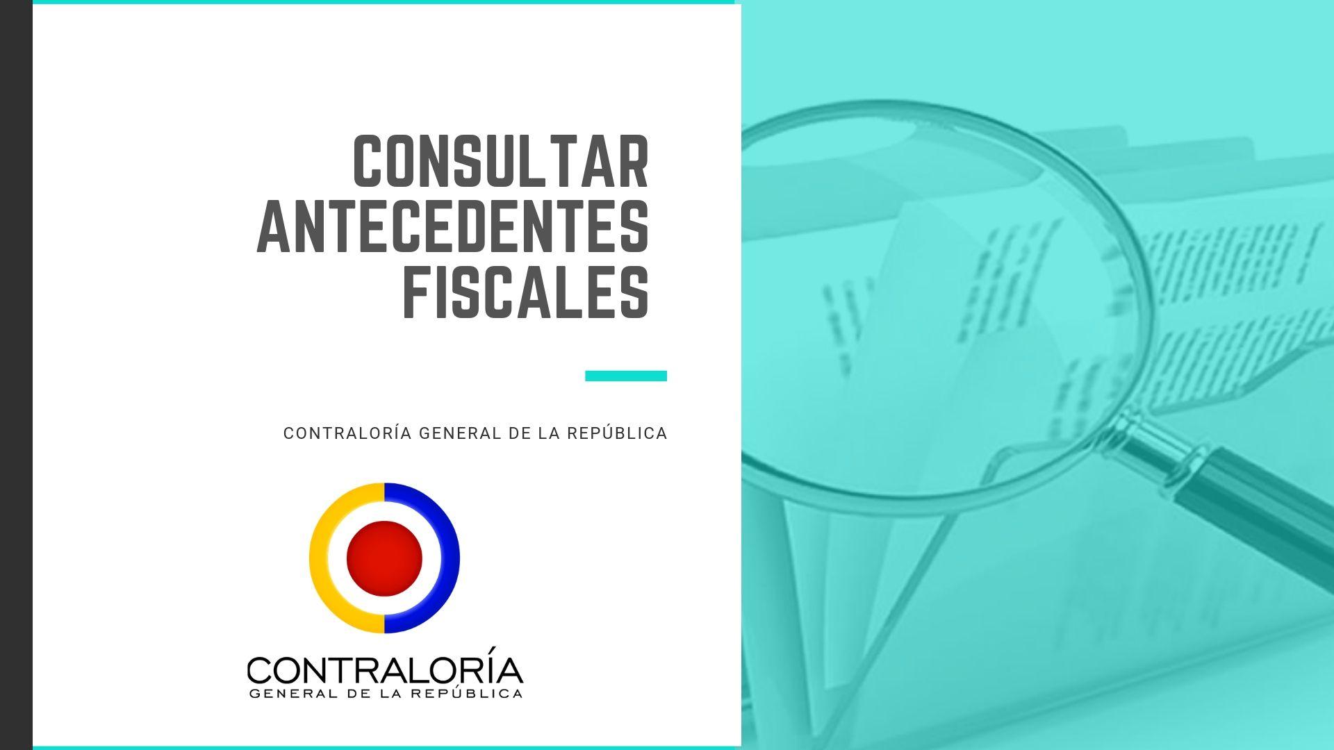 Certificado de la contraloria antecedentes responsabilidad fiscal