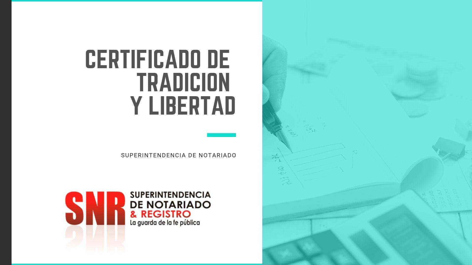 como sacar el certificado de libertad por internet