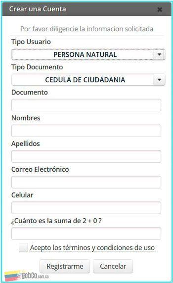 registro SNR para sacar certificado de tradicion