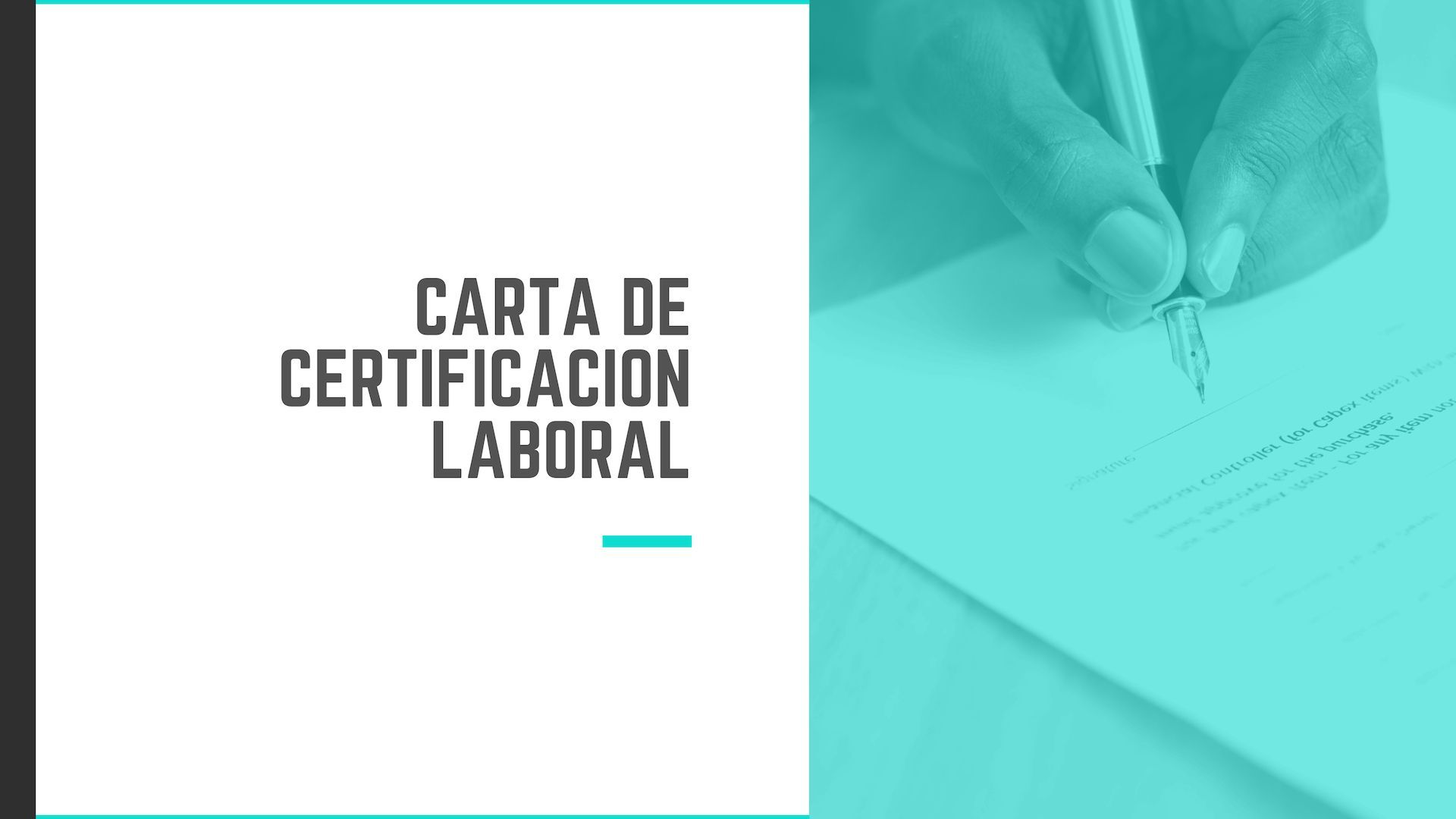 Certificado laboral modelo carta