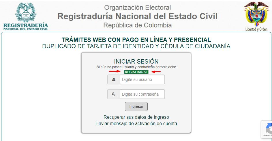Cómo obtener la cita para el duplicado de la cédula de ciudadanía por internet 1