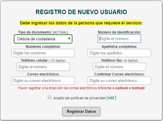Cómo obtener la cita para el duplicado de la cédula de ciudadanía por internet 2